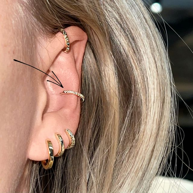 Ear Cuff Crystal